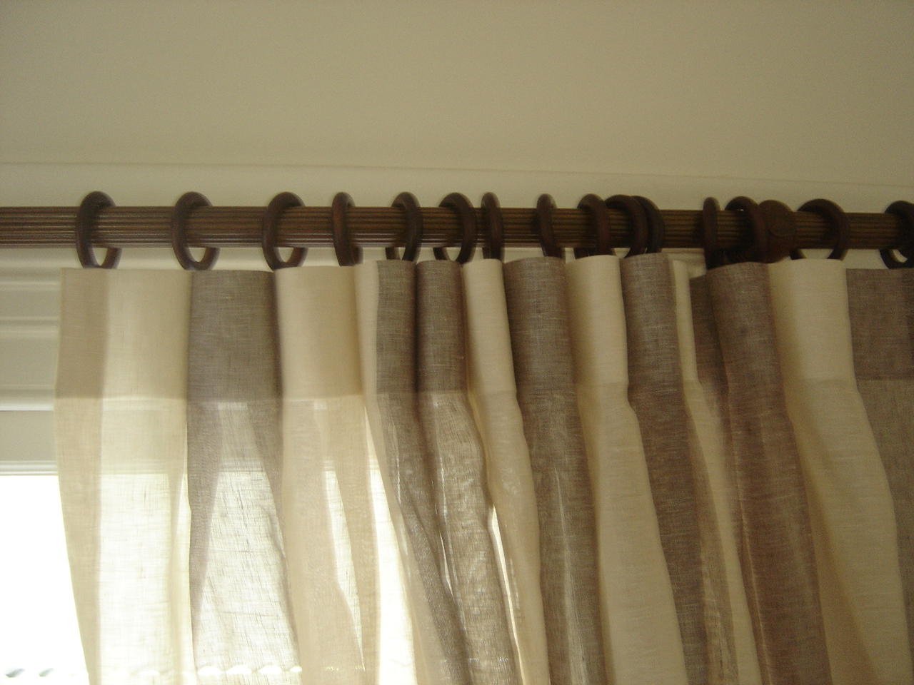 Loading Zoomsears Curtains And Sheers On Same Rod Diy Outdoor Curtain Rods So Inexpensive Uses